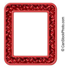 menselijk, bloed, frame