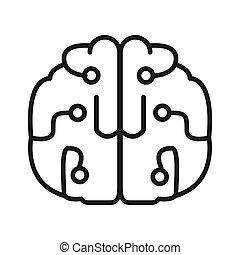 menselijk, intelligentie, illustratie, ontwerp