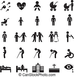 menselijk leven, pictogram