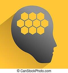 menselijk, robot, symbool