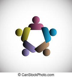 mensen, concept, eenheid