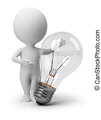 mensen, daar, -, idee, kleine, 3d