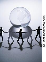 mensen, en, globe
