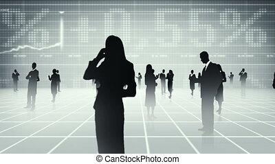 mensen, globaal, communicat, zakelijk