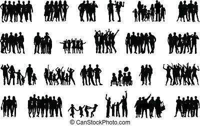 mensen, groep