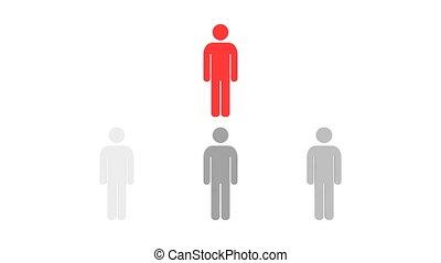 mensen, hiërarchie, hd