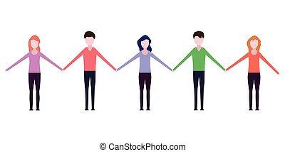 mensen houdend hands
