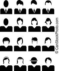 mensen, iconen, set