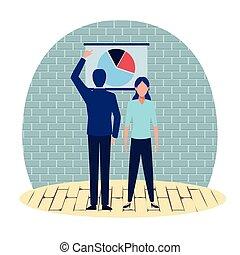 mensen, karakter, spotprent, zakelijk, avatars