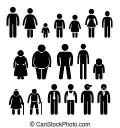 mensen, karakter, staafje cijfer