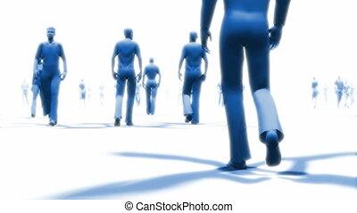 mensen lopend