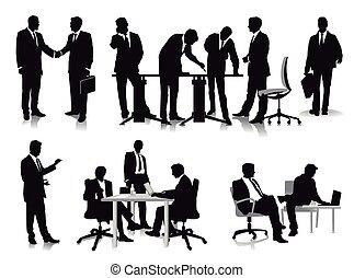 mensen, management, administratiekantoor, zakelijk