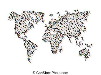 mensen., menigte