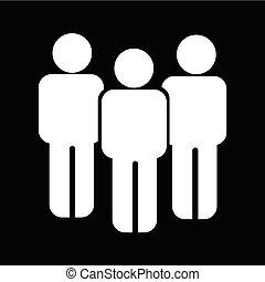 mensen, ontwerp, illustratie, pictogram