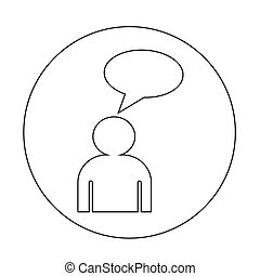 mensen, ontwerp, praatje, illustratie, pictogram