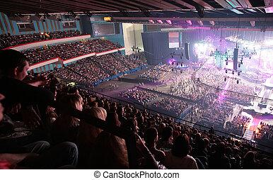 mensen, op, concert