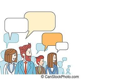 mensen pratend, zakelijk, ruimte, netwerk, communicatie, sociaal, het bespreken, kopie, groep