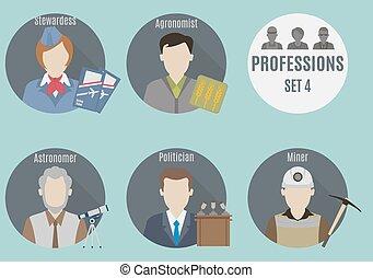 mensen., set, beroep, 4