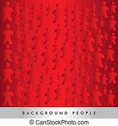 mensen, silhouette