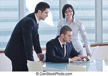 mensen, team, zakelijk