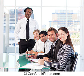 mensen, vergadering, zakelijk