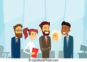 mensen zaak, businesspeople, team, groep, anders