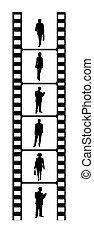 mensen zaak, film, zwart wit