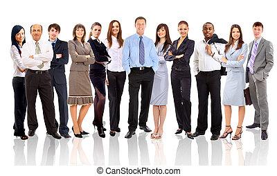 mensen zaak, jonge, -, team, aantrekkelijk, elite