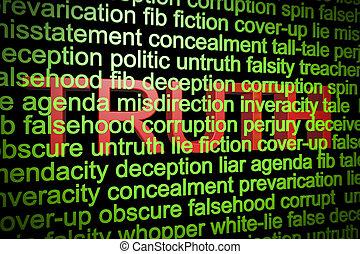 mensonges, derrière, vérité