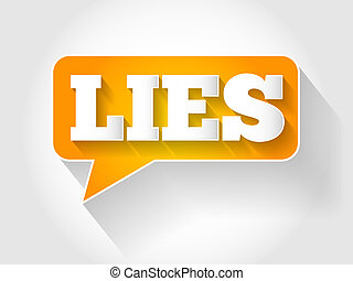 mensonges, message, texte