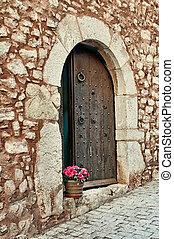 menstruáció, collbato, spanyolország, bejárati lépcső