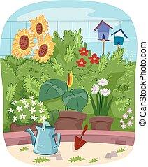 menstruáció, kert