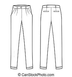 menswear, clásico, trouser, -