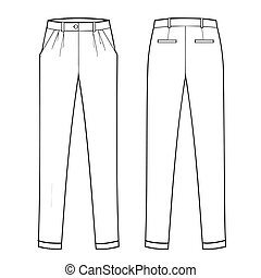 menswear, classieke, trouser, -