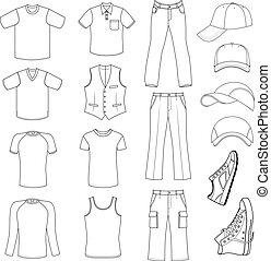 menswear, fejfedőkalap, cipők, &