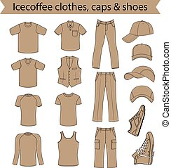 menswear, headgear, sapatos, &