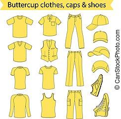 menswear, hoofddeksel, schoentjes, &