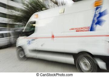 mentőautó, a városban