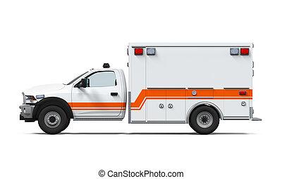 mentőautó, autó