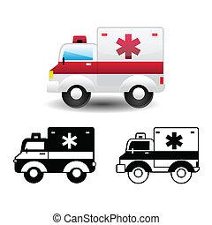 mentőautó, ikon