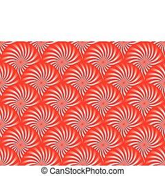 menta, fundo, vermelho
