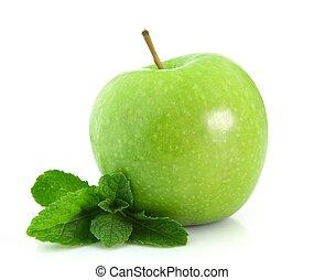 menta, manzana