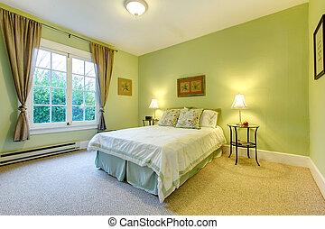 menta, refrescante, dormitorio