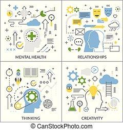 Mental Activity Flat Concept