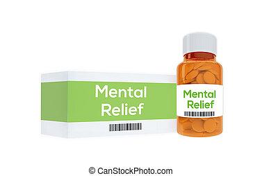 mental, alívio, medicação, conceito