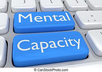 Mental Capacity concept - Render illustration of computer ...