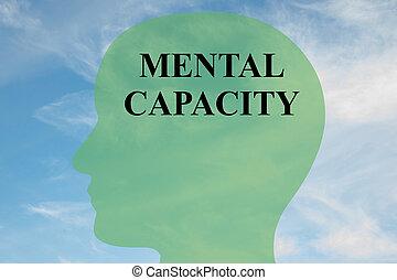 Mental Capacity concept - Render illustration of 'MENTAL ...