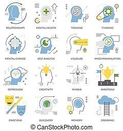 Mental Concept Flat Icons
