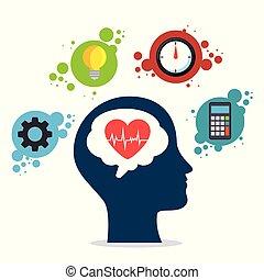 mental, concept, santé, jour