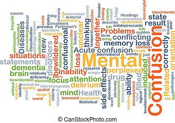 Mental confusion background concept - Background concept...